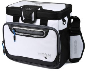 Arctic Zone Titan Deep Freeze 16 Can Zipperless Cooler, White _ Spo