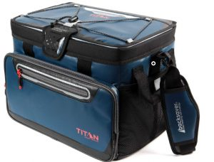 Arctic Zone Titan Deep Freeze 48 Can Zipperless Cooler, Blue _ Spor