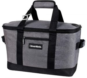 CleverMade SnapBasket 50 Can, Soft-Sided Collapsible Cooler_ 30 Lite