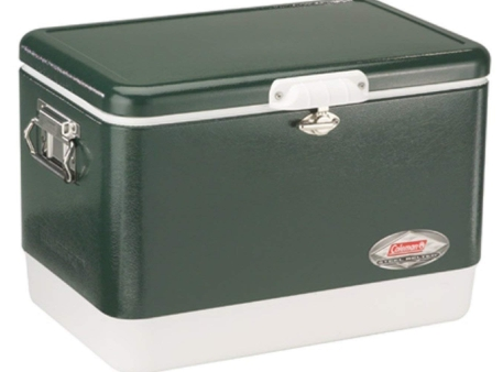 Coleman Steel-Belted Portable Cooler, 54 Quart, Olive Green - 30000