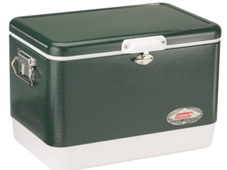 Coleman Steel-Belted Portable Cooler, 54 Quart, Olive Green -30000