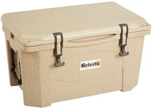 Grizzly Coolers Cooler, Sandstone Tan 40-Quart