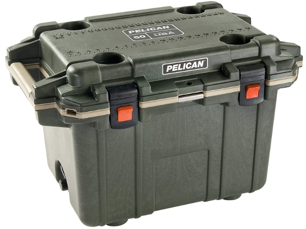 Pelican Elite 50 Quart Cooler (Green_Tan) _ Sports & Outdoors
