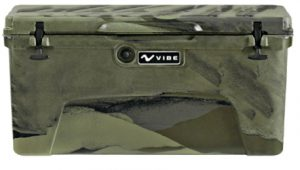 Vibe Element 75 Quart Rotomolded Hard Shell Cooler with Bottle Opener | Hunter Camo