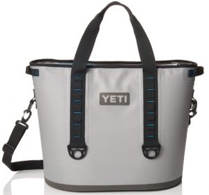 YETI Hopper 40 Portable Cooler Fog Gray_Tahoe Blue _ Sports & Outdor