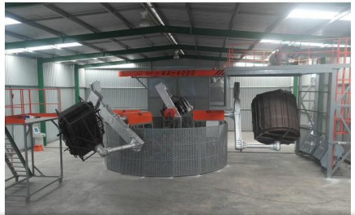 China Small Rotational Moulding Machine Rock And Roll